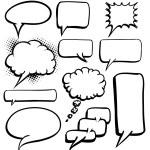 Speech bubbles — Stock Vector #62582789