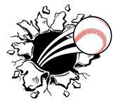 бейсбольная стена разорения — Cтоковый вектор