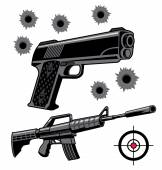 Firearms — Stock Vector