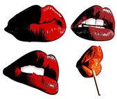 Sexiga läppar — Stockvektor