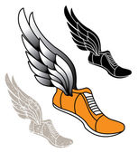 Winged Track Shoe — Stock Vector