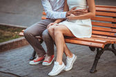 Happy young couple spending time together — 图库照片