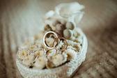 金结婚戒指 — 图库照片