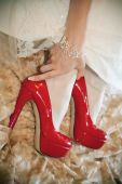 Wedding details shoes — Stockfoto