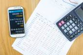 Bookkeeping and saving habits — Foto Stock
