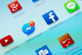Social media are trending — Stock Photo