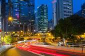 Distrito de negocios de hong kong en la noche — Foto de Stock