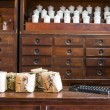Chinese herbs used in placing the jars and drawers — Stock Photo #53316307