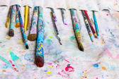Outils de peinture utilisés — Stockfoto
