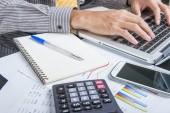 Financiële berekening — Stockfoto