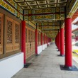 Corridor of A Confucius Temple, Typical Traditional Chinese Architecture, Located in Kaohsiung Taiwan — Stock Photo #55887075