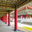 Corridor of A Confucius Temple, Typical Traditional Chinese Architecture, Located in Kaohsiung Taiwan — Stock Photo #55887149