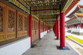 Corridor of A Confucius Temple, Typical Traditional Chinese Architecture, Located in Kaohsiung Taiwan — Stock Photo
