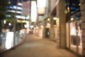 Abstract background of shopping mall, shallow depth of focus — 图库照片