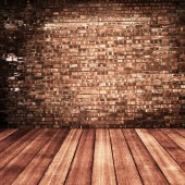 Wood and  brick texture background — Stock Photo
