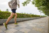 In the park sports, runner — Foto de Stock