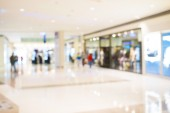 Abstract background of shopping mall, shallow depth of focus. — Foto Stock