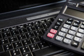 Image of computer and calculation — Stock Photo