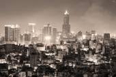 Night view of the city in Taiwan - Kaohsiung — Stock Photo