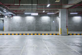 Abstract background of Indoor parking, shallow depth of focus. — Stock Photo