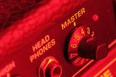 Master volume knob of a guitar amplifier — Stock Photo