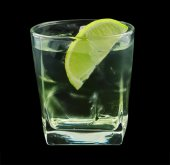 Vodka lime cocktail — Stock Photo