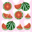 Set of water-melon — Stock Vector #67108029