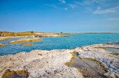 Scenic view over balkhash lake — Foto de Stock