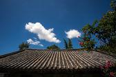 Koreanische traditionelle Dachziegel — Stockfoto