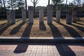 Traditional korean gravestone — Stock Photo