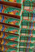 Korean Buddhist Temple Roof — Stock Photo