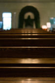 Altar bench — Stock Photo
