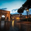 Colosseum and Constantine Arch at Night — Stock Photo #66119623