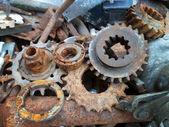 Rusty esmagado detalhes metálicos — Fotografia Stock