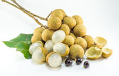 Organic fresh longan isolated picture  on white background — Stockfoto