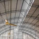 Closeup old black ceiling fan — Stock Photo #52272445