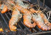 Grill shrimp  — Stock Photo