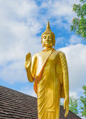 Gold buddha statue in thai temple, Thailand  — Stock Photo