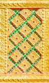 Thai temple wall flower back ground image  — ストック写真