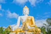 gold Buddha  statue in temple of Thailand. — Stock Photo
