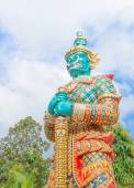 Giant statue in Thai temple,Public statue in thailand — Stock Photo