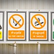 Image of industrial warning sign on wall — Stock Photo #54211485