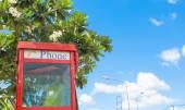 Cabine téléphonique rouge — Photo