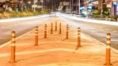 Long exposure traffic scene of Thailand — Stock Photo