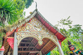Old temple with white sky — Foto de Stock