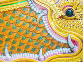Thai temple wall flower back ground image. — Stock Photo
