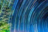 Image of Long exposure star trails. — Stock Photo
