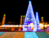 Image of Defocused ligths of Christmas tree  — Stock Photo