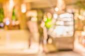 コーヒー ショップはボケ味の画像の背景をぼかし. — ストック写真
