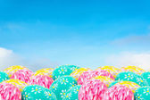White cloud and blue sky background image — Stock Photo